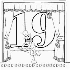 grover number 19 coloring pages printfree
