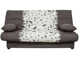 housse de canapé conforama housse pour clic clac prima 130 cm prima plume coloris marron et
