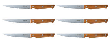 Prestige Kitchen Knives by Prestige Moments Stainless Steel And Acacia Steak Knives Wood 6