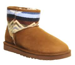 womens ugg pendleton boots ugg mini pendleton boots chestnut jaquard leather flats