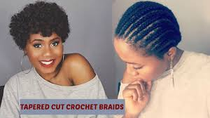 easy natural looking tapered cut crochet braids using curlkalon