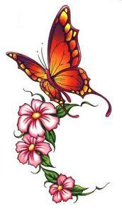beautiful butterfly flowers design tattoos book