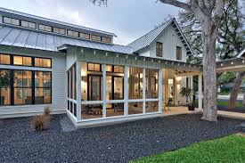 House Plans With Screened Porches Modern Farmhouse Screened In Porch With Standing Seam Roof Board