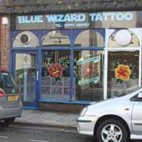 tattooist and body piercing blue wizard tattoo