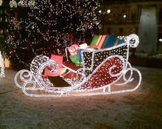 Christmas Lighted Sleigh Outdoor Decoration Philips Led by Found It At Wayfair Animated Reindeer Light Set Of 2 Outdoor