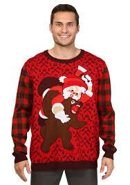 christmas sweaters santa vs christmas sweater