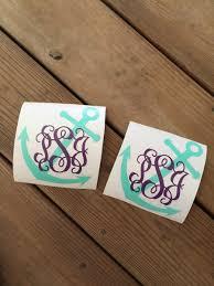 monogram stickers monogram vinyl anchor stickers chickadee s designs