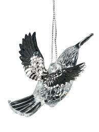 gisela graham irridescent bird tree decoration hanging