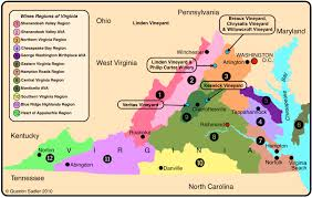 Map Of Northern Virginia Virginia U2013 A Land Of History U0026 Wine Quentin Sadler U0027s Wine Page