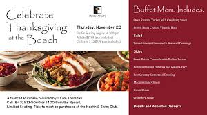 celebrate thanksgiving in myrtle plantation resort