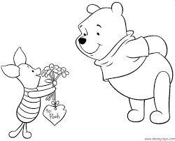 disney valentine coloring pages coloring kids