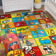 Nursery Room Area Rugs Zoomie Angelique Learn Abc Alphabet Letters With Animals