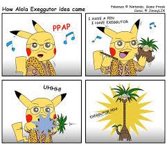 Polemon Meme - how alola exeggutor idea came pokemon memes