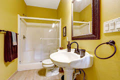 Bright Yellow Bathroom by Yellow Shower Room Stock Image Image 13541511