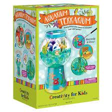 amazon com creativity for kids aquarium terrarium craft kit toys