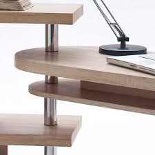 Schreibtisch Schwenkbare Tischplatte Schreibtisch Samurai In Eich Sonoma Dekor Pharao24 De