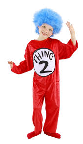 costumes for kids dr seuss thing 1 and 2 kid s costume s 4 6 by