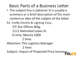 letter with attention line and subject line optional parts of business letter images letter examples ideas