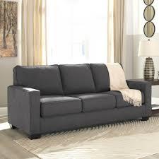 ashley furniture zeb queen sofa sleeper in charcoal local