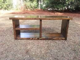 Boot Bench With Storage Handcrafted Wood Bench