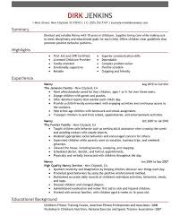 General Resume Example by Nanny Resume Examples Nanny Resume Template Crafty Inspiration