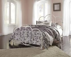 Shabby Chic Metal Bed Frame by Signature B107 81 Loriday Queen Metal Bed Only