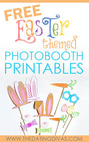 easter photo props free easter themed photobooth printables