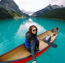 canoe selfie as i suspected lake louise especially by canoe from