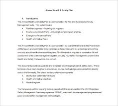 Free Business Plan Template Nz by Health And Safety Plan Templates 18 Free Word Pdf Documents