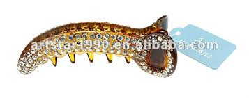 banana hair clip indian hair accessory fashion rhinestone plastic banana hair