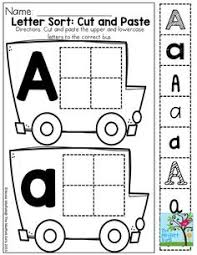 cut and paste letter recognition in different fonts classroom