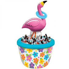 inflatable cooler u0026 ring toss flamingo drink coolers