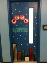 door decoration for our hero theme from special ed cetera