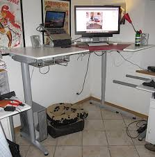 Standing Height Desk Ikea My Pegboard Standing Desk Installation