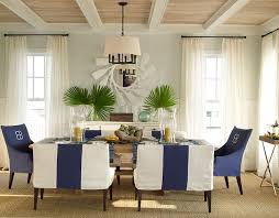 coastal dining room light fixtures with unique chairs using white