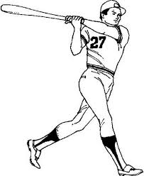 coloring page baseball player coloring pages at decoration animal