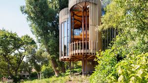 cylindrical u0027treehouse u0027 on stilts rises in cape town curbed