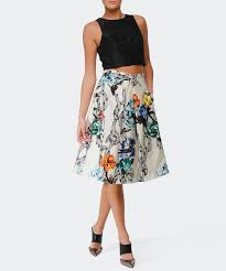 silk skirt tibi multi pleated floral silk skirt available at jules b