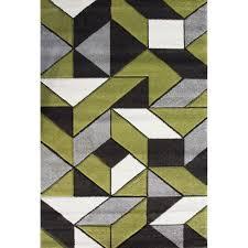 Modern Green Rugs Modern Green Grey Geometric Rugs Kukoon