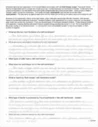 Cell Membrane Worksheet Ap Chemistry Cell Membrane Worksheet