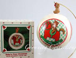 1986 hallmark baby s keepsake ornament 1st