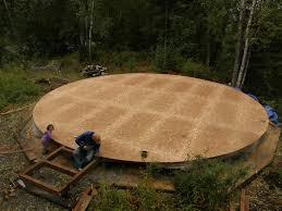 an alaskan family with a yurt a new yurt deck