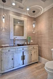 Shabby Chic Pendant Lighting by Guest Bathroom Bathroom Shabby Chic Style With Vessel Sink Pendant