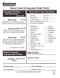wedding cake order costco cake order form business form templates