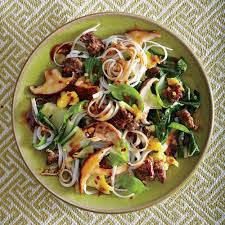 thanksgiving noodles recipe thai beef and basil noodles with shiitake gravy recipe myrecipes