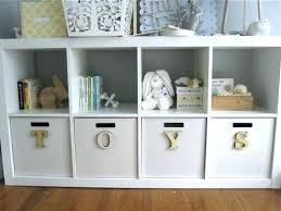 kids sling bookshelf with storage bins espresso home design