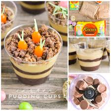easter desserts planted carrot and egg nests easter pudding cups such an easy and
