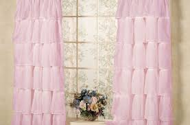Pottery Barn Ruffle Blackout Panel by Curtains Elegant Light Pink Ruffle Blackout Curtains