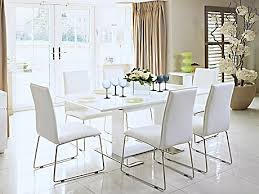 White Gloss Dining Table And Chairs Dining Room Furniture Half Price Sale Harveys Furniture