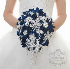 blue wedding bouquets wedding bouquet cascading brooch bouquet bridal bouquet